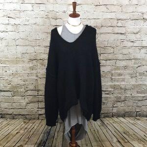    Free People    Oversized black sweater L